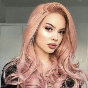 Rose Gold Wavy Wig